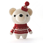 pjotr the polarbear amigurumi crochet pattern