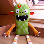 monster rag doll pattern