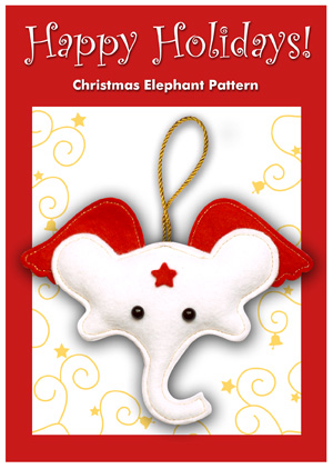 christmas sewing pattern ornament